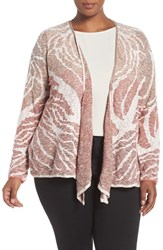 Nic Zoe Plus Size Women's 'Sunset Coral' Four Way Convertible Cardigan Multi