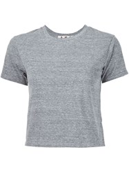 Amo Cropped T Shirt Grey