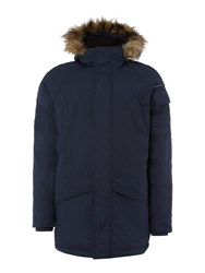 Duck And Cover Men's Arctic Cold Weather Parka Navy