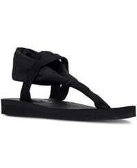 Skechers Women's Meditation Studio Kicks Comfort Flip Flop Sandals From Finish Line Black