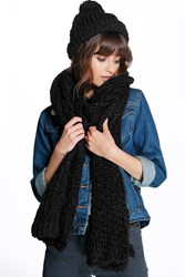 Rose Chunky Knit Scarf And Hat Set