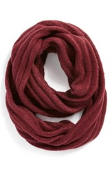 Junior Women's Bp. Ribbed Cable Knit Infinity Scarf Red Burgundy