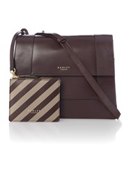 Radley Hardwick Brown Medium Foldover Cross Body Bag Brown
