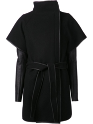 Gareth Pugh Contrast Sleeve Coat Black