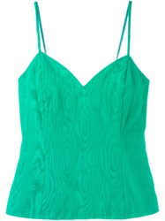 Christian Dior Vintage Sweetheart Neck Tank Top Green
