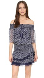 Twelfth St. By Cynthia Vincent Smoke Off Shoulder Dress Indigo