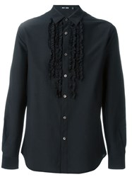Blk Dnm Ruffle Panel Shirt Black