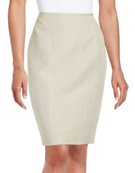 Calvin Klein Linen Blend Pencil Skirt Khaki