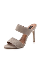 Steven Roxxana Double Band Sandals Taupe