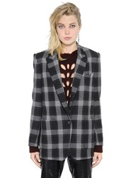Isabel Marant Checked Felted Wool Jacket