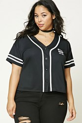Forever 21 Plus Size New York Jersey Black White