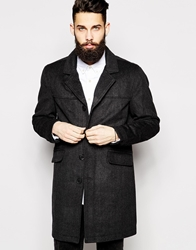 Only And Sons Overcoat Caviarblack