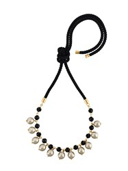 Marni Pearl Embellished Necklace Grey