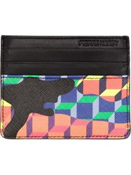 Pierre Hardy 'Camouflage Cube' Card Holder Black