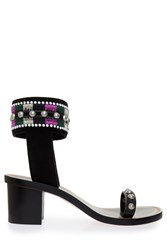 Isabel Marant Joss Embroidered Block Heels Black