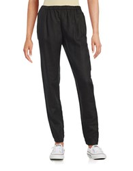Eileen Fisher Petite Herringbone Jogger Pants Black