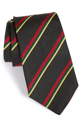 Gitman Brothers Vintage Stripe Silk Tie Black