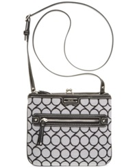 Nine West 9'S Jacquard Crossbody Black White