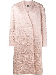 Alexander Mcqueen Butterfly Embroidered Cocoon Coat Pink Purple