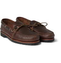Quoddy Canoe Pebbled Leather Boat Shoes