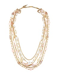 Stephen Dweck Long Shell And Mixed Stone Necklace