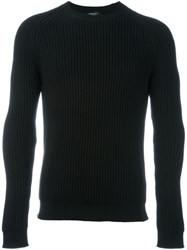 Roberto Collina Ribbed Jumper Black
