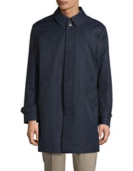 Lauren Ralph Lauren Button Front Insulated Rain Coat Navy