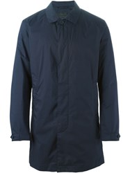Z Zegna Classic Trench Coat Blue