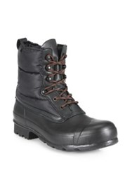 Hunter Original Quilted Nylon And Rubber Boots Black
