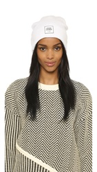 Opening Ceremony Logo Knit Beanie Paris White