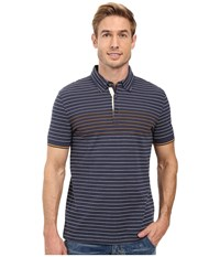 Nautica Short Sleeve Engineered Polo Mood Indigo Men's Short Sleeve Knit Navy