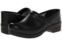 Dansko Professional Box Leather Men's Black Box Men's Clog Shoes