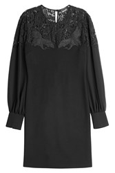 Just Cavalli Lace Top Long Sleeve Dress Gr. 40