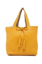 Urban Expressions Woven Reversible Weekend Tote Bag Yellow