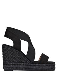 Castaner 110Mm Cotton And Elastic Wedge Sandals