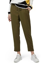 Women's Topshop Contrast Piped Ankle Zip Jogger Pants