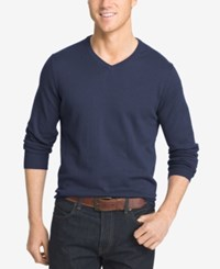 Izod Men's Big And Tall V Neck Sweater Peacoat