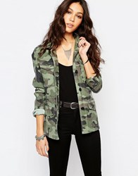 Replay Festival Camo Print Jacket Khaki
