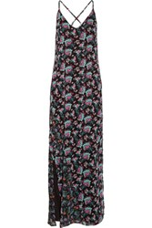 W118 By Walter Baker Dakota Floral Print Chiffon Maxi Dress Black