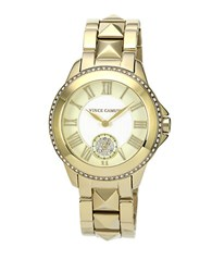 Vince Camuto Ladies Goldtone Pyramid Stud Strap Watch