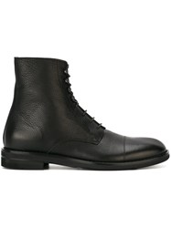 Maison Martin Margiela Lace Up Ankle Boots Black