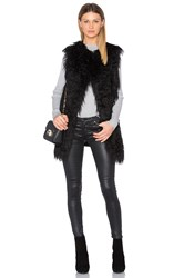 Theory Nyma Faux Fur V Vest Black