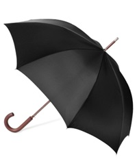Totes Auto Wooden Stick Umbrella Black