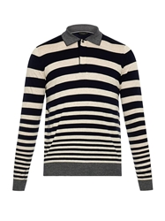 Paul Smith Striped Wool Blend Polo Shirt