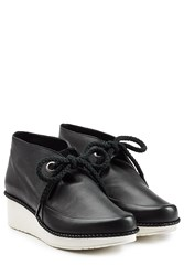 Robert Clergerie Leather Lace Up Ankle Boots Black