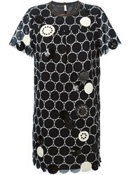 Marc By Marc Jacobs Embroidered Circle Shift Dress Black