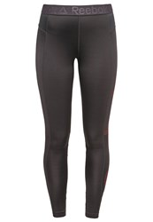 Reebok Tights Coal Laser Red Dark Gray
