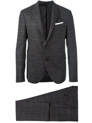 Neil Barrett Prince Of Wales Check Suit Grey