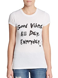Addicted To T's Good Vibes Tee White