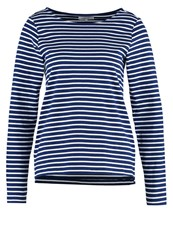 Zalando Essentials Long Sleeved Top White Navy Stripes